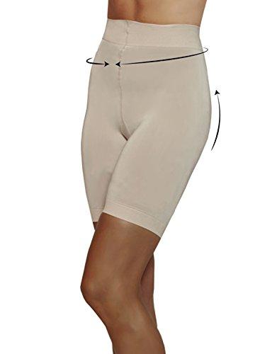 Guaina Contenitiva E Modellante   Pantaloncino Snellente   Shaper & Push Up   Nero & Naturale   S M L Xl   120 Den   Naturale