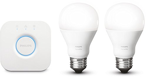 Philips Hue White LED Lampe 9,5 W, EEK A+, A60 E27 Starter Set inklusive Bridge, 2-er Set