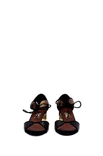 FIZZY0644884 Salvatore Ferragamo Sandale Femme Cuir Noir Noir