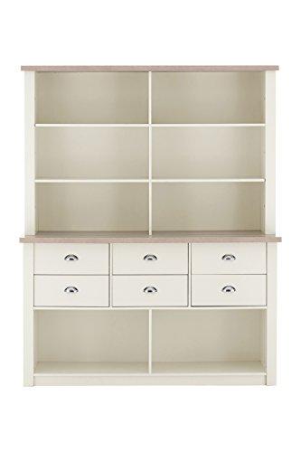 Premier Housewares ST IVES Kommode Schrank, Holz, Eiche Furnier/Weiß