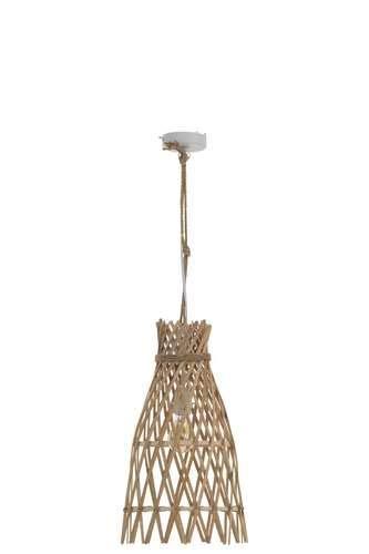 Petite lampe suspension ethnique en bambou naturel