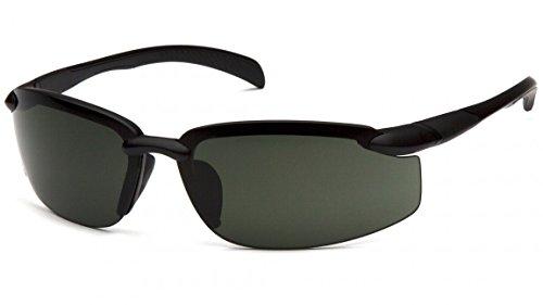Venture Gear vgsb1126db Waverton Sicherheit Gläser, Rahmen schwarz/forest grau Objektiv
