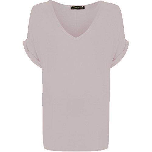 Sugerdiva - Robe - Chemise - Femme Noir noir 34-38 Blanc