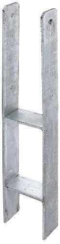 GAH-Alberts 213831 H-Pfostenträger, feuerverzinkt, Gesamthöhe: 600 mm, Materialstärke: 6 mm, lichte Breite: 101 mm