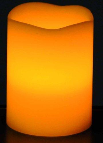 Beco 881.00 - Lámpara LED con forma de vela, 7,6 x 10 cm, incluye 3 pilas AAA, color naranja