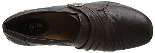 Clarks Kessa Alcove piatto Brown Leather