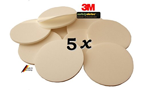 5 x safetydetec Klebepads zur professionellen Rauchmelder-Montage