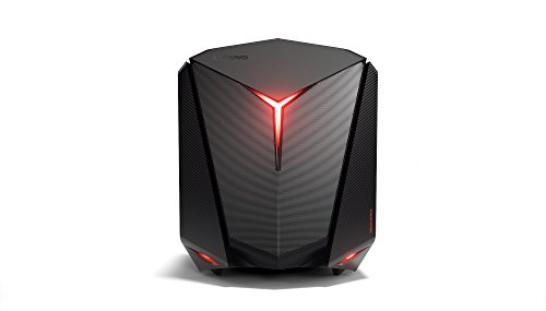 Lenovo ideacentre Y720 Cube Gaming Desktop PC (Intel Core i5-7400 Quad-Core, 16GB RAM, 1TB HDD + 512GB SSD, AMD Radeon RX480 8GB, Windows 10 Home) schwarz