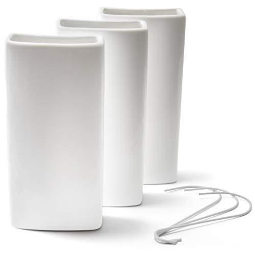 Ligano Heizkörper Luftbefeuchter weiß - Keramik Wasserverdunster für die Heizung - 3 Stück