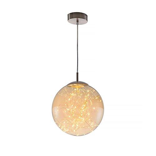 LED Hänge Decken Strahler Ess Zimmer Glas Kugel Form Pendel Decken Lampe Amber Nino Leuchten 34152523