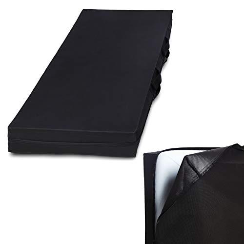Lumaland Matratzen-Aufbewahrungstasche in acht Größen platzsparend leicht mit Reißverschluss und Tragegriff 90 x 200 x 25 cm