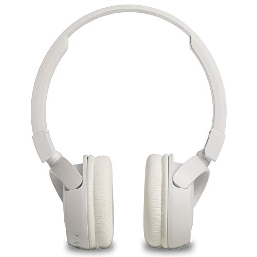JBL T460BT Extra Bass Wireless On-Ear Headphones with Mic (White) Image 4