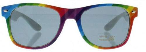 Unbekannt Gay Schwul Regenbogen CSD Pride LGBT Rainbow KOSTÜM Zubehör Armband SCHMUCK FLAGGEN HAARBÄNDER HOSENTRÄGER - vertrieb durch ABAV (1x Sonnenbrille Regenbogen ZPG004)