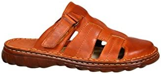 Cómodas Sandalias Hombres Cuero Búfalo Genuino Calzado Zapatos Ortopédicos Modelo-877