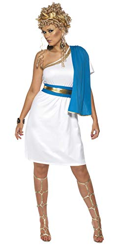 Römische Schönheit Kostüm mit Kleid Toga Gürtel und Kopfschmuck, Medium