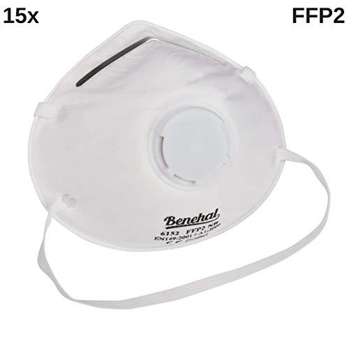 15x Atemschutzmaske FFP2 in *Premiumqualität* │CE 6152 Feinstaubmaske ideal für den gewerblichen, sowie privaten Einsatz│Atemmaske & Mundschutz Maske
