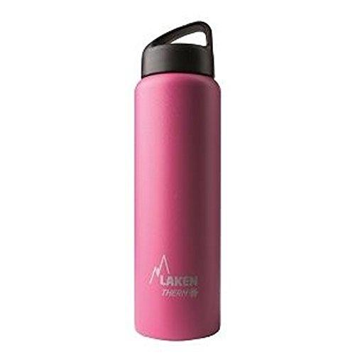 Laken Thermo Classic Thermosflasche Isolierflasche Edelstahl Trinkflasche weite Öffnung - 1 Liter, Fuchsia (Camelbak-classic-trinkflasche)