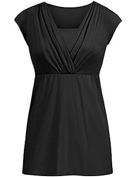 a07d50910c37 ELEKIKIL Donna Estive T-Shirt Gravidanza per L Allattamento Camicia Comoda  Casual Top Moda