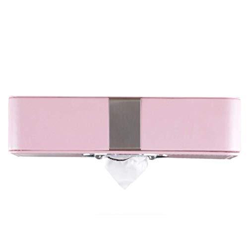 Auto Sonnenblende Tissue Box Halter, Premium PU Leder Auto Faltbare hängende Papier Veranstalter Handtuch Serviette Pumping Box Cover für Auto Home Office verwenden, schwarz (Color : Red)