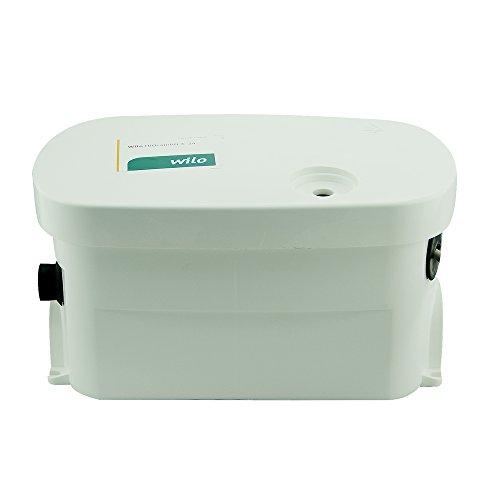 Wilo HiDrainlift 3-24 klein Hebeanlage Abwasserpumpe und Schmutziges Wasser Lifting Einheit Pumpe für Bodenmontage Installation oder unter der Duschwanne (4191678)