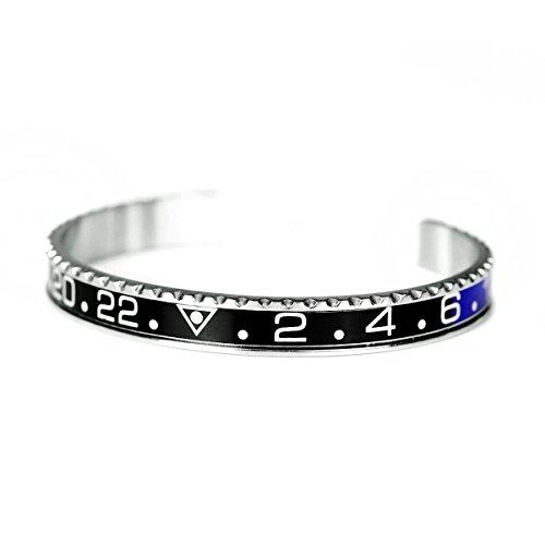 Bracciale rigido da Uomo - If abbina perfettamente agli orologi sportivi. Available in diversi colori. Adattabile al polso.