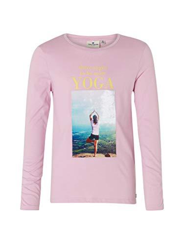 TOM TAILOR für Mädchen T-Shirts/Tops Langarmshirt mit Foto-Print Orchid Bouquet Purple, 176 - Orchid Bouquet Bekleidung
