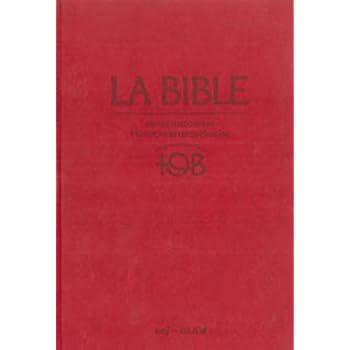 La Bible - Traduction oecuménique - notes intégrales, reliure rigide satin mat grenat sous étui