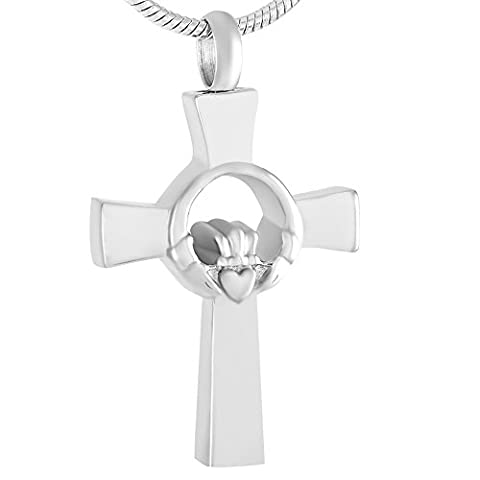 Pilier spirituel de maintenir Cœur en acier inoxydable bijoux funéraire Souvenir