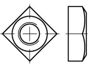 DIN 557 5 Vierkantmuttern - Abmessung: M16 (50 Stück)