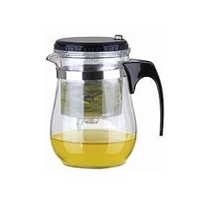 Facile à bouton-poussoir passoire Verre Tea Pot Avec Lock (500ml)