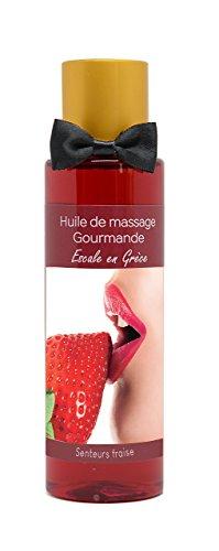 J'ose 865582 Huile de massage érotique comestible sensuelle chauffante FRENCH TENDANCE (Fraise)