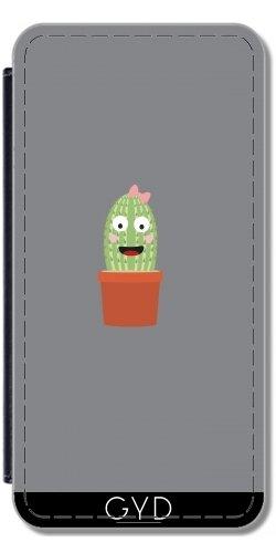 Leder Flip Case Tasche Hülle für Huawei P10 - Kaktus Mit Band by ilovecotton (Rib Cowboy)