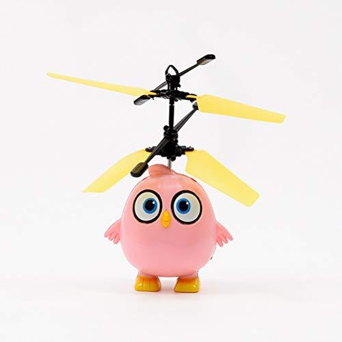 daxoon mini drone para niños, led drone con pequeño pájaro modelado, cuadricóptero controlado a mano de inducción infrarroja helicóptero de juguete volador para niñas niños y principiantes