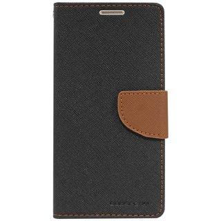 Gulwan Stylish Luxury Mercury Magnetic Lock Diary Wallet Style Flip Cover Case For Xolo Era 4K (Black & Brown)