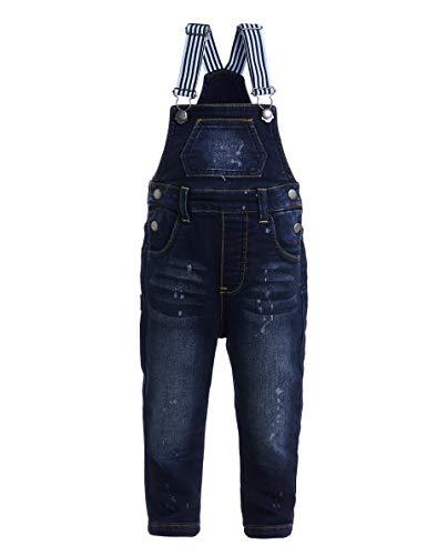 GULLIVER Baby Junge Jeans Overall | Farbe Denim Blau | mit Träger | Baumwolle | gerade Passform | für 9-24 Monate -