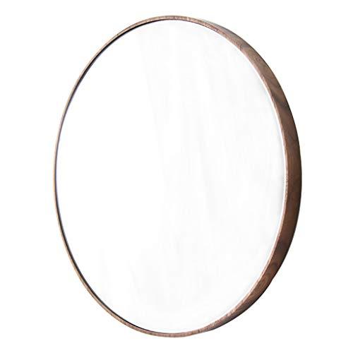 Dekorativer Spiegel-Badezimmer-Holzrahmen-runder Wandspiegel 36CM (14 Zoll) Eitelkeit/Make-up/Dusche/Rasur-einfacher Spiegel für Eingang Wohnzimmer-Schlafzimmer -