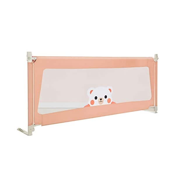Playpens Crib Guardrail Baby Shatter-resistant Fence Large Bed 1.5-2.0 Meters Children Against Bedside Baffle (color : A, Size : 2.0M) Playpens ★ high quality non-toxic materials,Size:150cm/180cm/200cm ★ Vertical lift structure: no space is occupied, and it is more convenient to enter and exit. Push the fence down at the push of a button ★ height adjustment: can be adjusted according to the thickness of the mattress, so that the bed is close to the mattress. Avoid gaps between the mattress and the guardrail to prevent your child from falling 1
