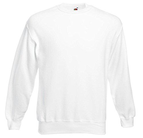 Fruit of the Loom Herren Sweatshirt Set-in Sweat White