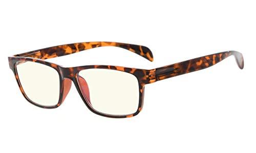 Eyekepper UV-Schutz der Leser,Blendschutzbrillen,Anti Blau Strahlen,Frühlingsgelenke Computer Lesebrille(+1.00, 090 Schildkröte)