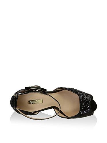 GUESS Donna Scarpe col Tacco sandali con il cinturino Nero Nero