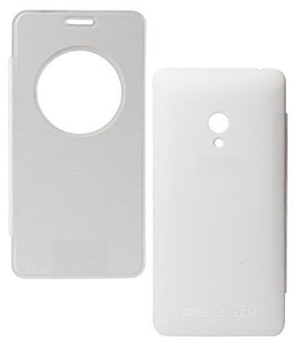 ECellStreet Exclusive Circle View Caller id White Flip Cover for Asus Zenfone 5 A500CG  available at amazon for Rs.174