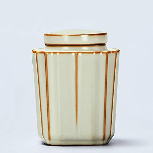 FFDGHB Versiegelte Keramikdosen HaushaltsbehäLter Teedosen Haushaltskeramik-Teedosen Kleine GläSer Gesalzene Bonbons Kaffee 11,4 * 8,9 cm