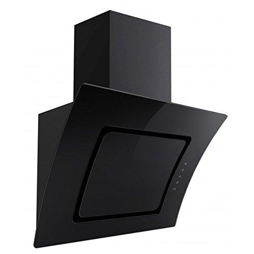 PKM S2-60 ABTZ Dunstabzugshaube mit Randabsaugung schwarz EEK: A 60cm Glas