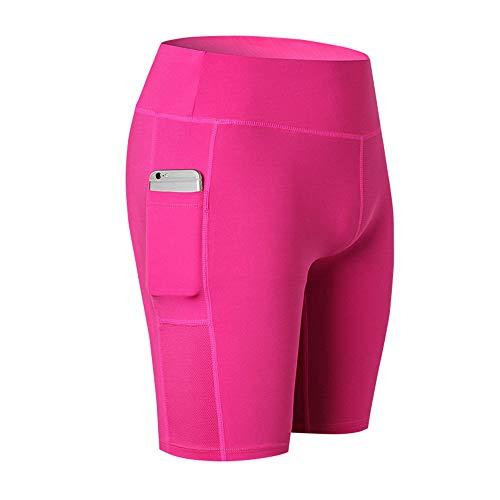 BEIXUNDIANZI Damen High Waist Sport Legging Mit Pocket Slimming Pants Für Yoga Gym Fitness Laufen Yoga Pants Pink XL