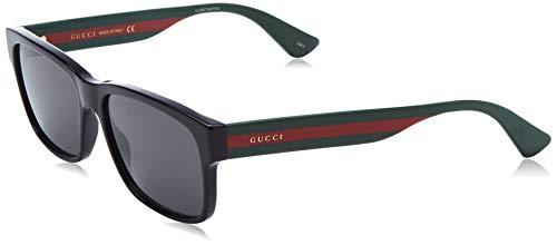 Gucci gg0340s-006 occhiali da sole, (nero/multicolor), 58.0 uomo