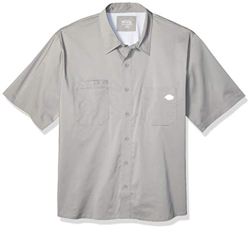 Plaid Woven Shorts (Dickies Herren Performance Cooling Woven Shirt Big-Tall Work Utility Hemd, Nickel, 3X)