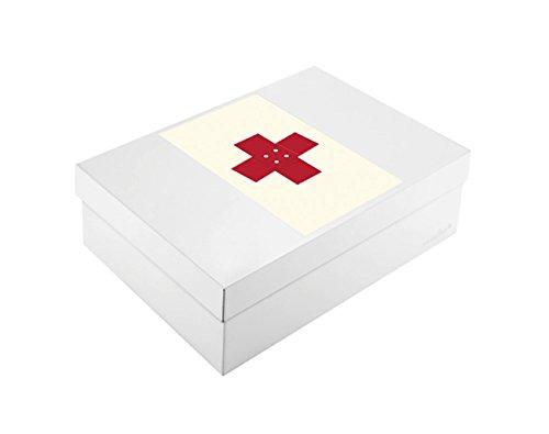 Wandler by Infinity Boxes Boxen-Set 3-TLG, Magnet Kreuz + Metallbox, groß, rechteckig, Creme-weiß