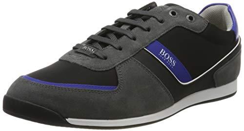 BOSS Herren Glaze_Lowp_nysd Sneaker, Grau (Dark Grey 21), 41 EU