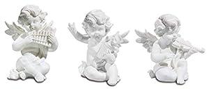 Katerina Prestige-Figura-Conjunto de 3ángeles músicos, hf1157