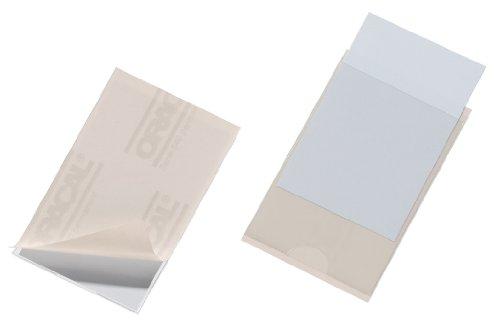 DURABLE pochettes adhesives POCKETFIX, (L)90 x (H)57 mm couleur: transparent, en film souple, ouverture laterale epaisseur: verso: 0,25 mm, recto: 0,10 mm, verso adhesif, en format de cartes de visite, incl. etiquettes unies contenu: 10 pieces (8079-...